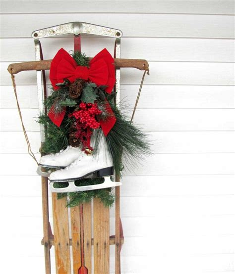 how to decorate sled 17 best images about decorated sleds on vintage antiques and inspiration