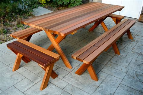 Large Picnic Table by Large Wood Picnic Table Seattle Cedar