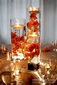 fall wedding centerpiece orchid