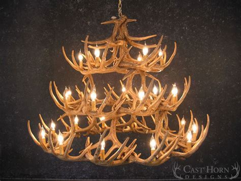 Deer Antler Chandeliers Whitetail Deer 42 Antler Chandelier Cast Horn Designs