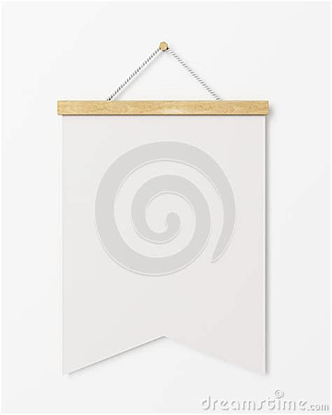 template for hanging pictures mock up blank poster flag with wooden frame hanging on the