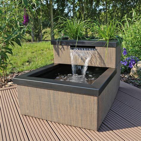 terrasse mit teich miniteich mit wasserfall set mtws1