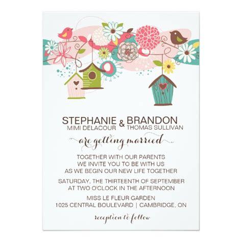 bird wedding invitations nz vintage bird wedding invitations announcements zazzle co uk