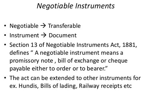 section 1 negotiable instruments law negotiable instruments intro