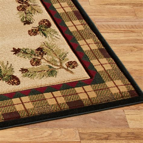 Pine Cone Area Rugs Winter Pines Rustic Pine Cone Area Rugs