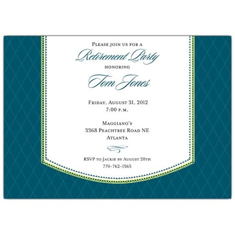 band retirement dinner blue invitations paperstyle