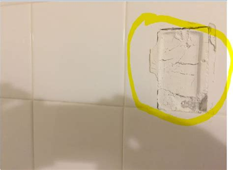 bathroom how can i reattach a ceramic towel bar end