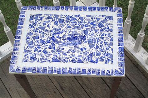 willow pattern mosaic 457 best images about mosaic furniture on pinterest