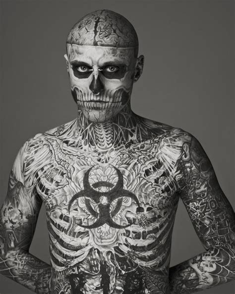 skeleton tattoo guy the boy from klang rick genest the boy