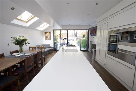 Small Terrace House Kitchen by Borough Of Brent Side Return Extension Side