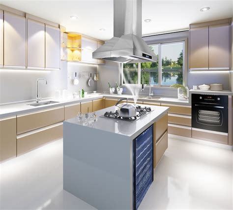 akdy z10a3is island range in beautiful kitchen