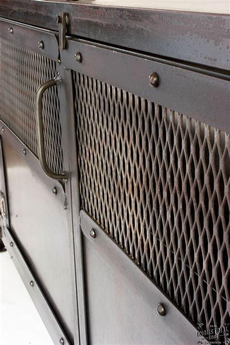 Reclaimed Kitchen Cabinet Doors by Custom Industrial Chic Media Cabinet Steel 2 Door Real