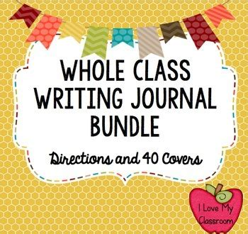 whole journal i my classroom writing rubric labels