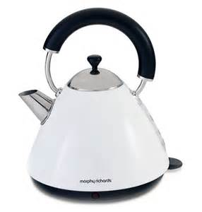 Morphy Richards Kettle And Toaster Accents Dove White Pyramid Traditional Kettle