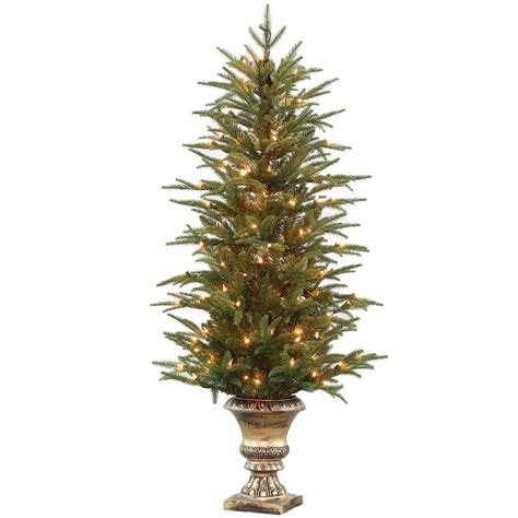 45 foot artificial christmas tree national tree company 4 5 ft feel real fraser grande potted artificial tree with 150