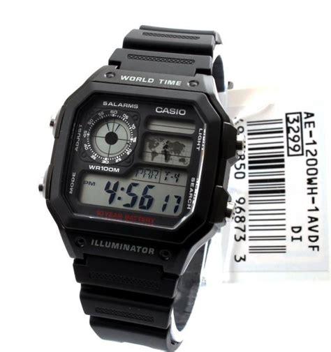 Tali Jam Casio Ae 1200 Ae 1300 arloji jam tangan original casio ae1200wh