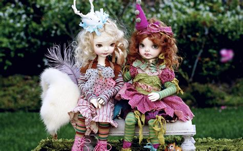 doll wallpaper dolls in the park bench beautiful wallpapers new hd
