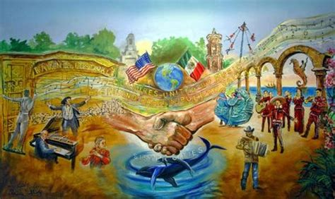 mexican wall murals vallarta officials visit city highland park
