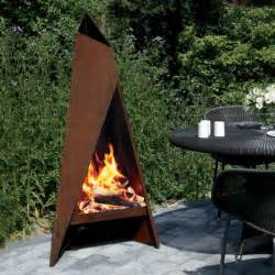 Garden Chimenea Heta Tipi Garden Steel Chimenea Corten Steel Fireplace