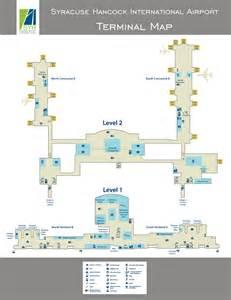 airport terminal map terminal map syracuse hancock international