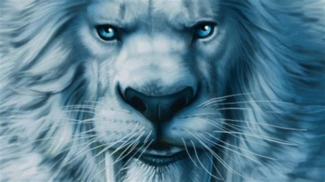 wallpaper blue lion big blue lion cats animals background wallpapers on