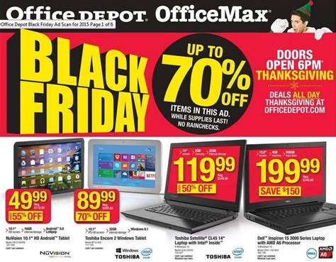 Office Depot Coupons Tablet Office Depot Officemax Black Friday 2015 Ad Includes 90