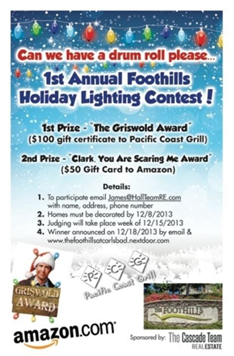 christmas contest voting flyer the foothills carlsbad annual light contest winners the cascade team san diego