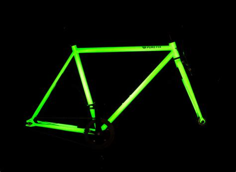 glow in the paint bike solar activated glow in the bicycle by fix cycles