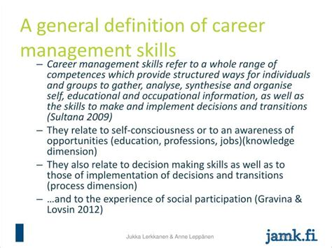 General Management Mba Meaning by Ppt Career Management Skills And Employability