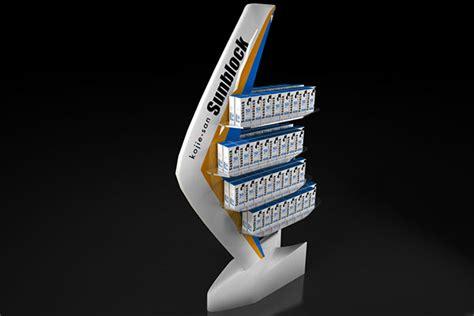 Shelf Of Sunblock by Kojie San Sunblock Product Display Shelf On Behance