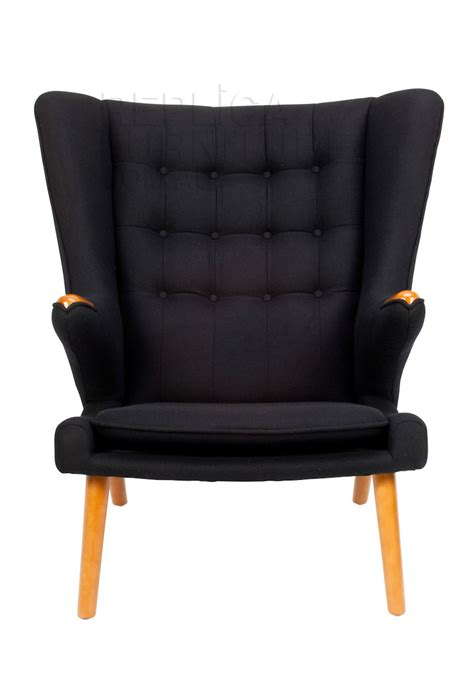 hans wegner papa bear chair replica  ottoman