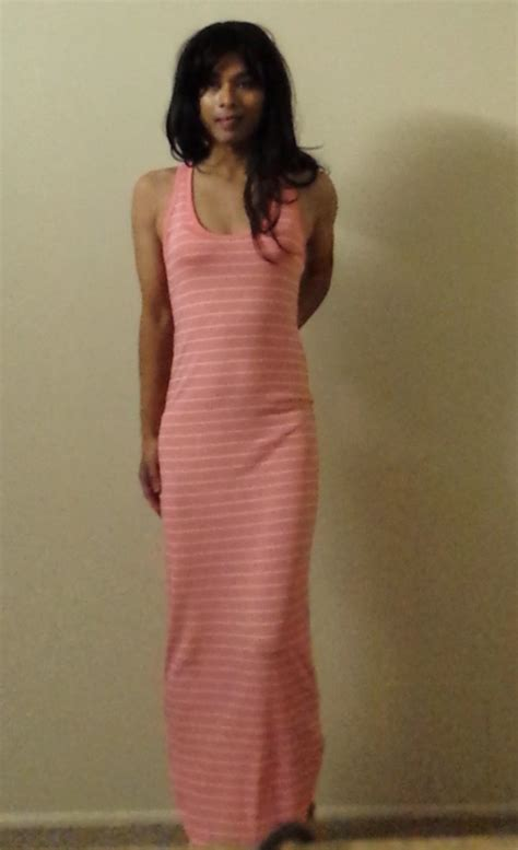 crossdresser pon in secret maxi dress by