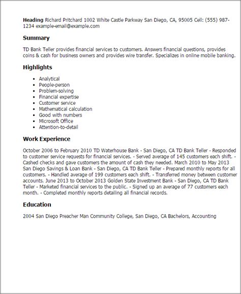 bank teller resume sles banking customer service sle resume resume cv cover