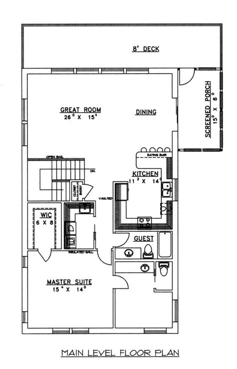 icf concrete home plans concrete block icf vacation home with 3 bdrms 2059 sq ft house plan 132 1485