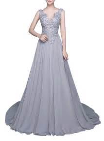 v neck backless prom side split evening floor length dress