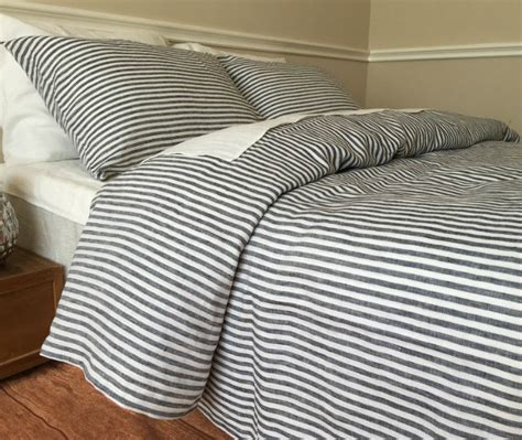 ticking bedding navy and white ticking stripe duvet cover striped linen