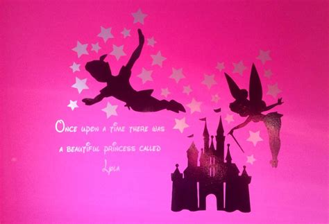 Star Wall Stickers Uk peter pan tinkerbell disney castle with name amp stars