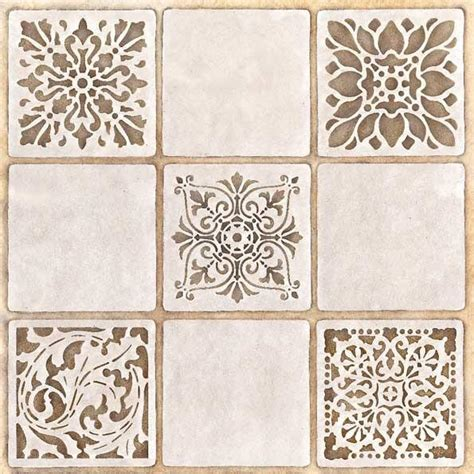 Modern Kitchen Tile Backsplash Ideas stencils renaissance tile stencils 1 royal design