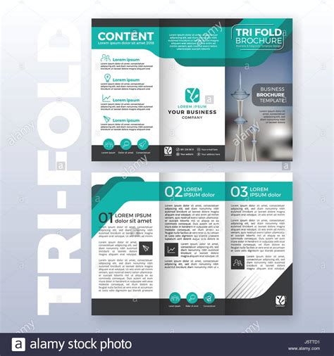 3 folded brochure template tri fold stock photos tri fold stock images alamy