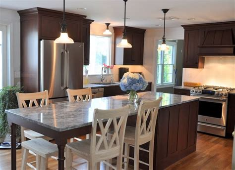 20 beautiful kitchen islands with seating long kitchen shaker kitchen cabinets ideas