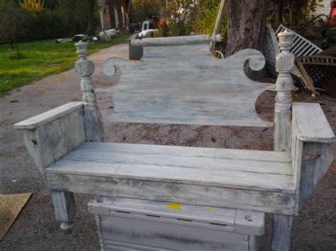 benches made out of headboards benches made from headboards shabby chic made from vintage