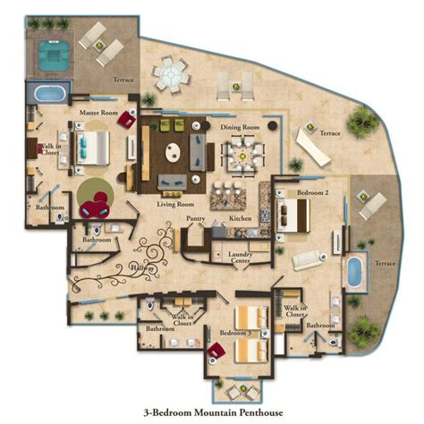 pent house floor plan 17 best ideas about condo floor plans on