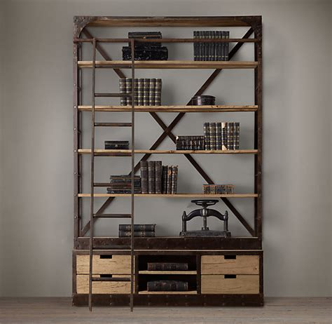 Ballard Designs Bookcase library bookcases with ladders tidbits amp twine