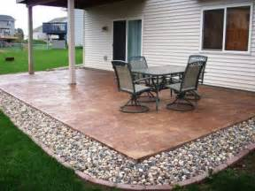 Concrete Patio Design Ideas by Stamped Concrete Patio Designs Home Improvement