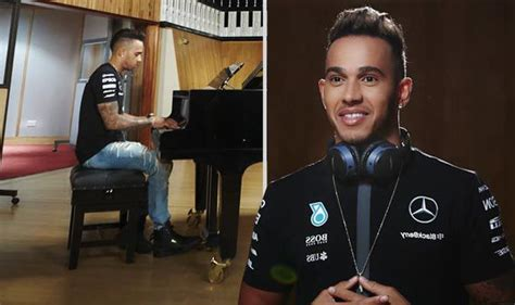 lewis hamilton shows off new lewis hamilton shows his musical talents as he unveils