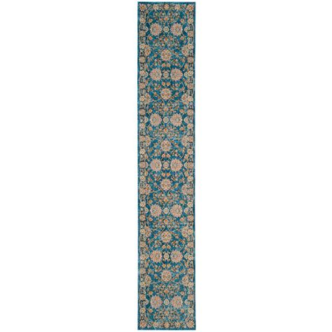 safavieh vintage turquoise multi 2 ft 2 in safavieh vintage turquoise multi 2 ft 2 in x 12 ft runner vtp469k 212 the home depot