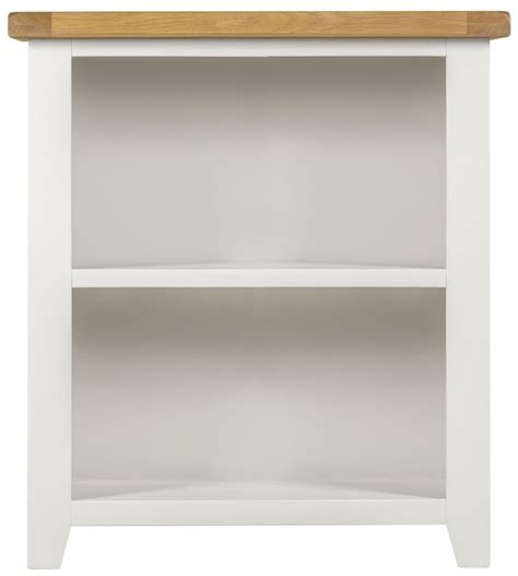 buy lundy white bookcase low cfs uk