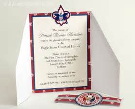 of honor template eagle scout court of honor invitation and scrapbook layout