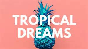 Circle tropical collage desktop wallpaper templates by canva
