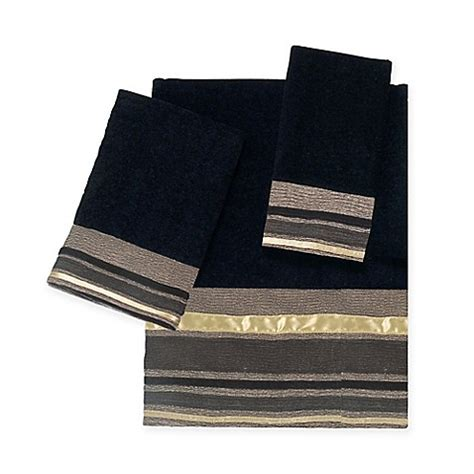 bed bath and beyond geneva avanti geneva bath towel collection in black bed bath